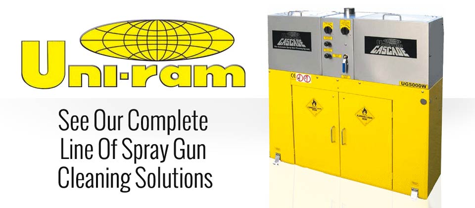 Uni-Ram Spray Gun Cleaning Solutions at Kentucky Auto Body Supplies